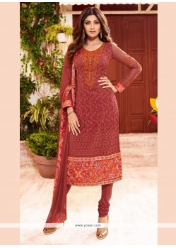 Shilpa Shetty Georgette Churidar Designer Suit.