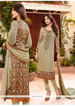 Shilpa Shetty Georgette Churidar Designer Suit