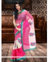 Baronial Pink Chanderi Cotton Saree