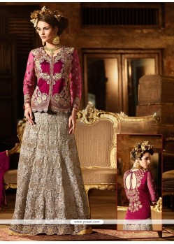 Flamboyant Magenta Banglori Silk Designer Lehenga Choli