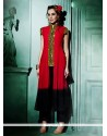 Tantalizing Faux Georgette Red Designer Kurti