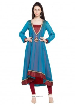 Charming Georgette Embroidered Work Designer Kurti