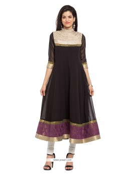 Desirable Georgette Embroidered Work Designer Kurti