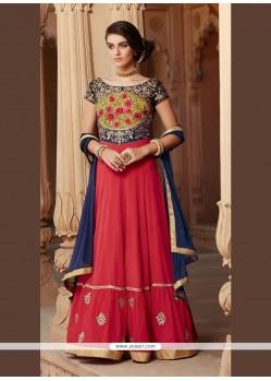 Precious Red Anarkali Salwar Kameez