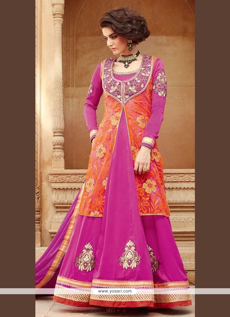 Imperial Hot Pink Anarkali Salwar Kameez