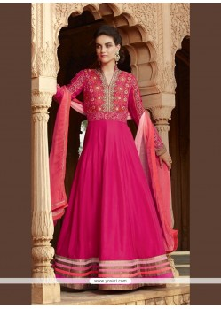 Lively Embroidered Work Anarkali Salwar Kameez