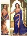Pleasing Georgette Patch Border Work Classic Saree