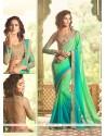 Snazzy Sea Green Georgette Classic Designer Saree