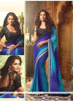Beauteous Georgette Blue Designer Traditional Sarees