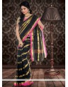 Genius Black Pure Kota Silk Saree