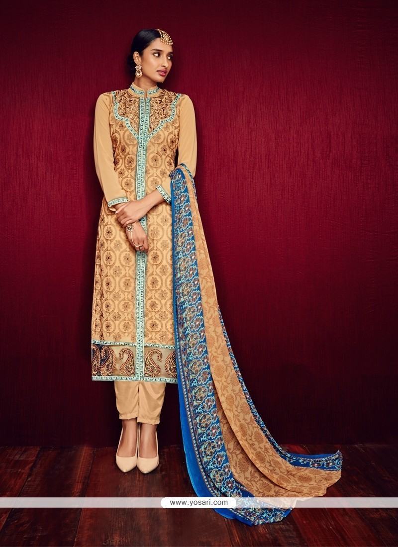 Readymade Formal Silk Embroidered Salwar Kameez with Banarasi Silk Dup –  Ladylinestore