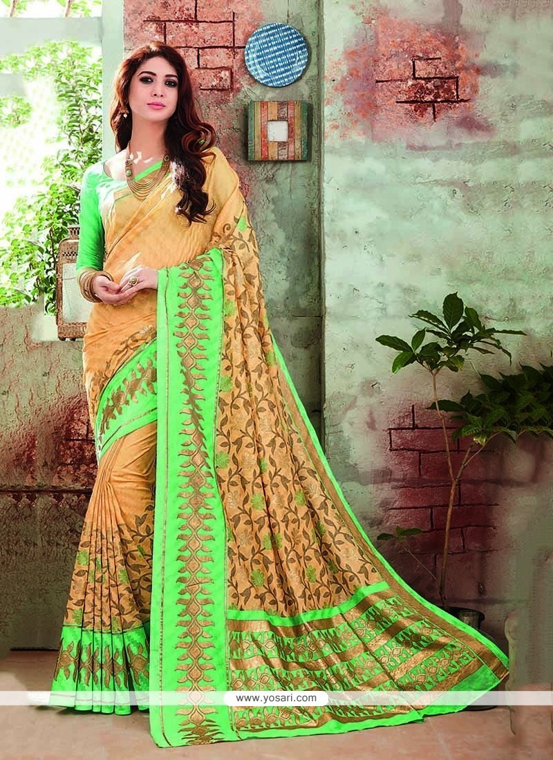 Ethnic Art Silk Printed Saree