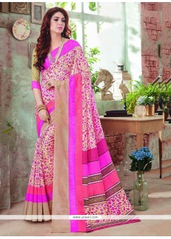 Excellent Art Silk Multi Colour Casual Saree