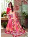 Irresistible Art Silk Print Work Casual Saree