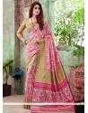 Striking Multi Colour Printed Saree
