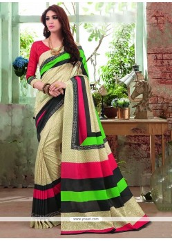 Haute Print Work Multi Colour Printed Saree
