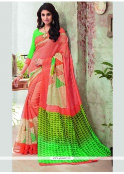 Sophisticated Print Work Multi Colour Printed Saree
