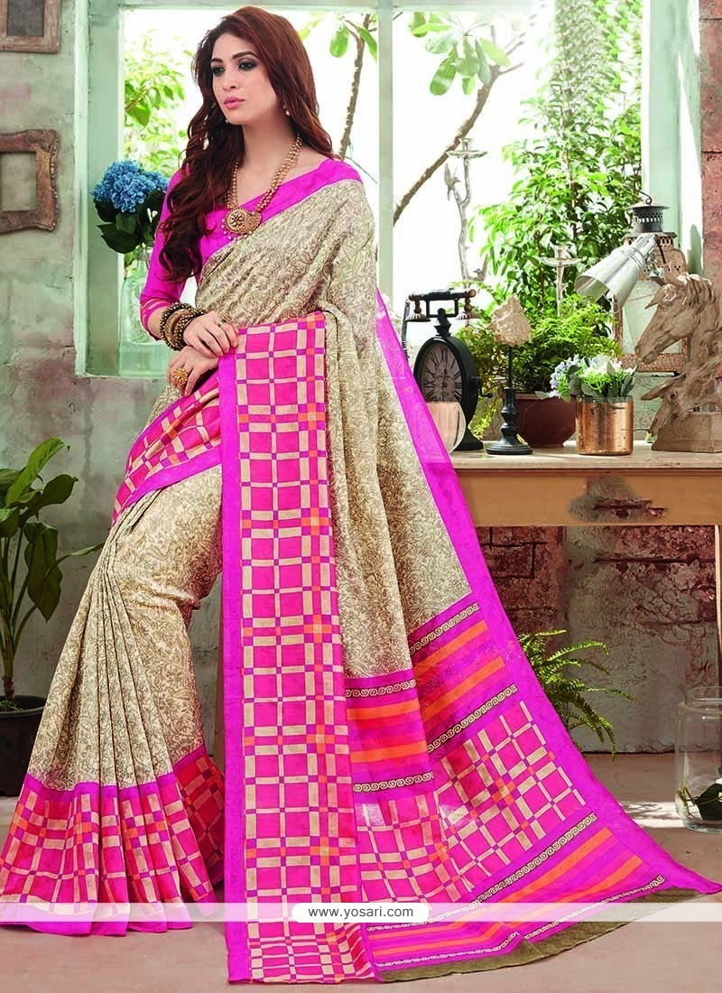 Superb Art Silk Print Work Printed Saree