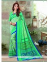 Engrossing Green Art Silk Printed Saree