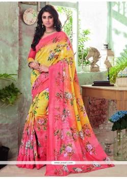 Pretty Art Silk Printed Saree