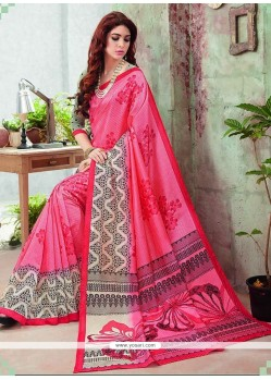Impeccable Art Silk Print Work Casual Saree