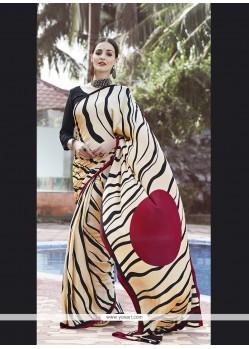 Artistic Multi Colour Print Work Casual Saree