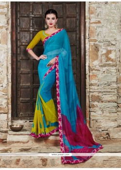 Exceeding Print Work Georgette Printed Saree