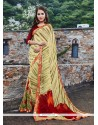 Lovely Multi Colour Georgette Printed Saree