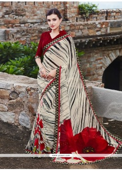 Immaculate Georgette Multi Colour Printed Saree