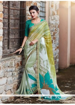 Wonderous Print Work Printed Saree