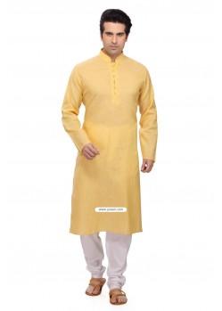 Yellow Eid Wear Indian Kurta Pajama For Men