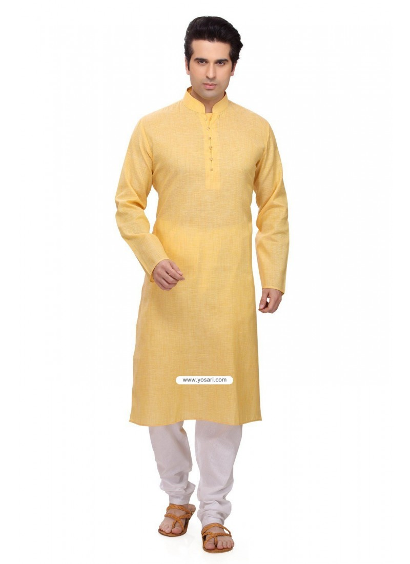 Buy Yellow Eid Wear Indian Kurta Pajama For Men Kurta Pajama