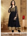 Natural Black Soft Net Anarkali Suit