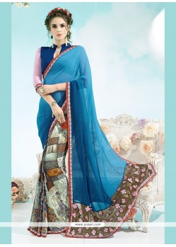 Brilliant Georgette Casual Saree