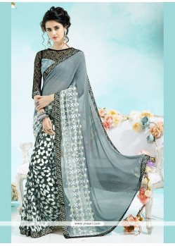 Demure Grey Casual Saree