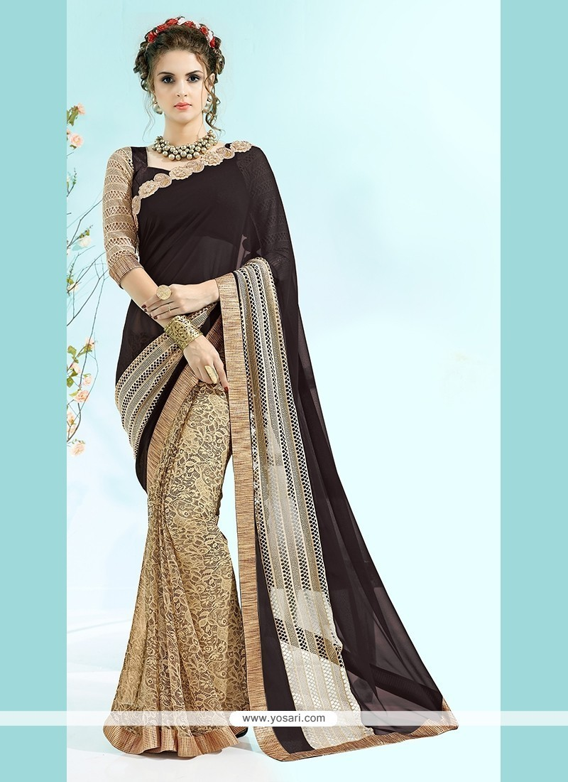 Magnetize Georgette Beige Casual Saree