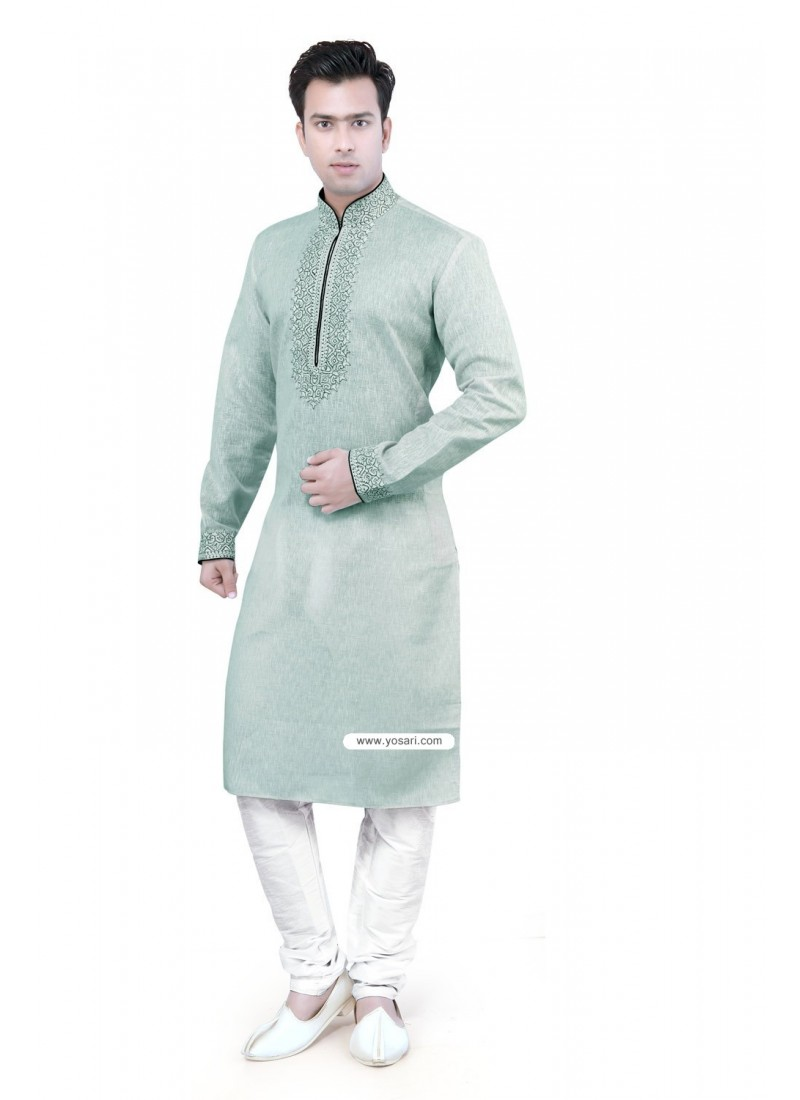 Buy Sea Green Indian Kurta Pajama For Men | Kurta Pajama