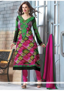Jaaz Multicolor Georgette Churidar Suit