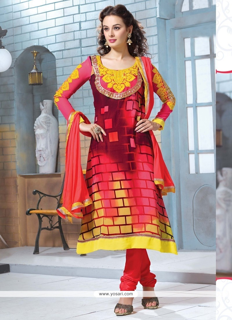 Glorious Multicolor Churidar Salwar Suit