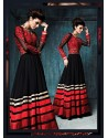 Black Resham Designer Anarkali Suit
