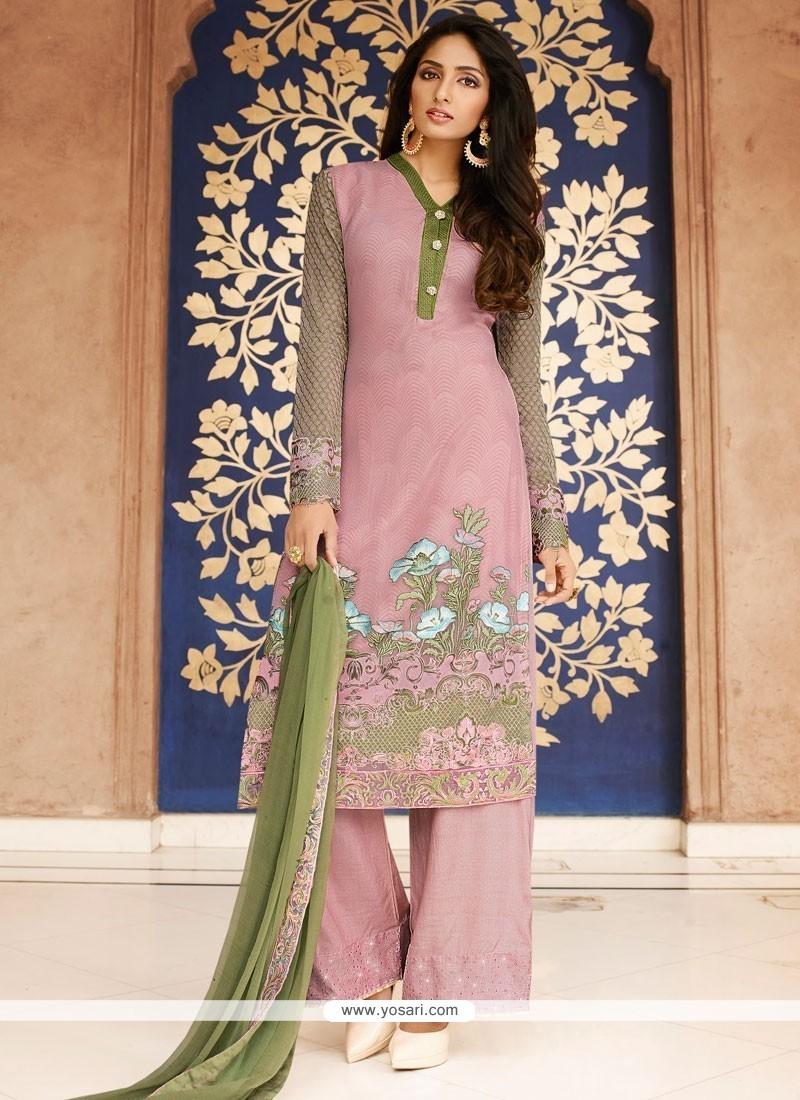 fcbd7708c0 Buy Sumptuous Rose Pink Georgette Designer Pakistani Salwar Suit ...