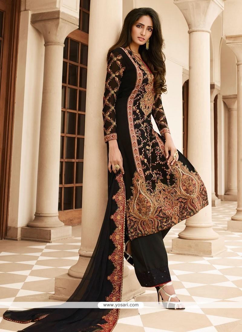 9e9f604fa0 Buy Observable Resham Work Black Designer Pakistani Salwar Suit ...