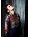 Navy Blue Art Silk Anarkali Suit