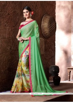 Magnetic Print Work Printed Saree