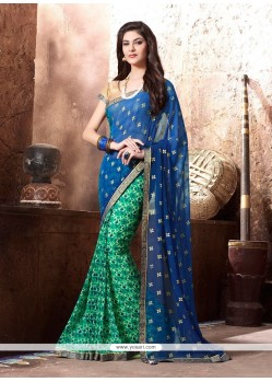 Captivating Print Work Georgette Casual Saree