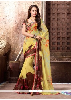 Affectionate Georgette Multi Colour Printed Saree