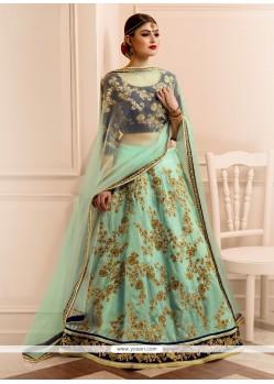 Haute Banglori Silk A Line Lehenga Choli