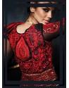 BlackReshamDesigner Anarkali Suit