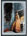Cream Art SilkAnarkaliSalwar Suit