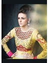 Awesome Yellow Georgette Anarkali Suit